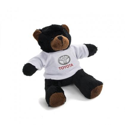 Zachte pluche teddybeer met Toyota T-shirt