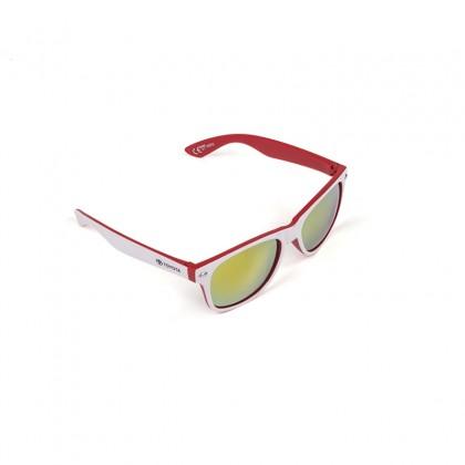 Unisex witte en rode matte zonnebril